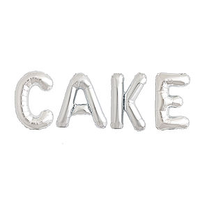 Cake Metallic Balloon Letters - outdoor decorations
