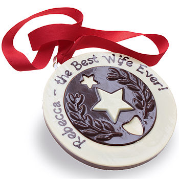 Chocolate Medal Personalised for Wife