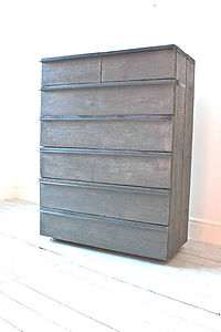 Navarro Reclaimed Grey Washed Wood Drawer Unit - chests of drawers