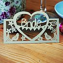 Personalised Laser Cut Place Card