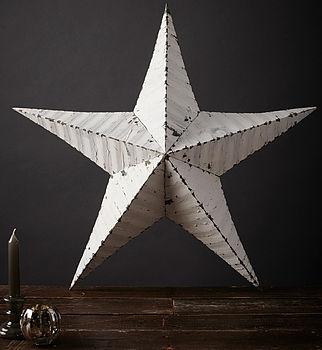 29' White Amish Tin Star