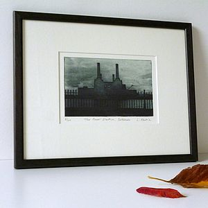 Power Station Battersea Solar Etching - contemporary art