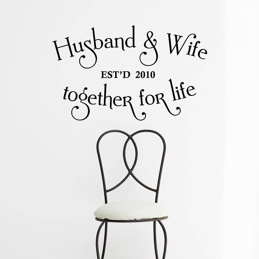 Personalised Husband And Wife Wall Sticker