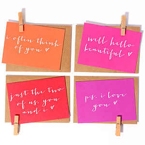 Mini 'Love' Notecards - all purpose cards, postcards & notelets