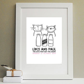 'Cats That Got The Cream' Engagement Print