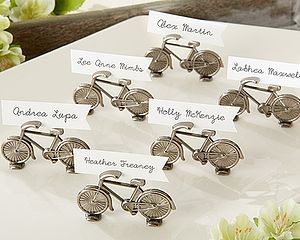 Bicycle Place Card Holder - dining room
