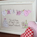 Wedding Day Personalised Embroidered Artwork