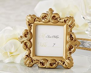 Gold Baroque Place Card/Photo Holder - place card holders
