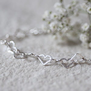 Diamond Heart Cut Bracelet