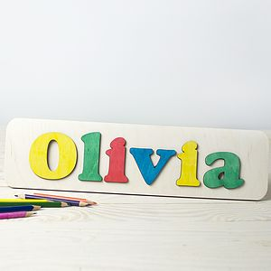 Personalised Name Puzzle - birthday gifts for children