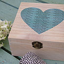 Personalised Secret Message Wooden Box