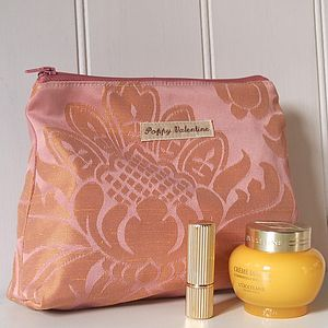 Make Up Bag Rose Gold Brocade