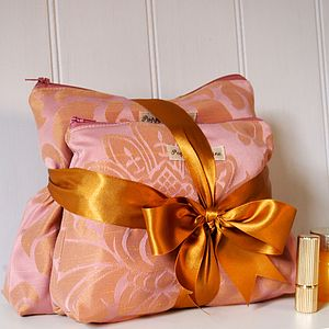 Wash Bag And Make Up Bag Set Rose Gold - health & beauty sale