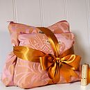 Wash Bag And Make Up Bag Set Rose Gold