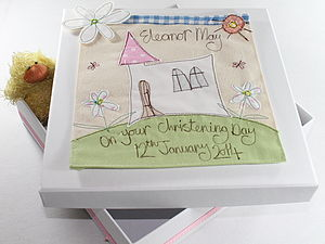 Personalised Christening Keepsake Box - storage & organisers