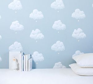 Cotton Clouds Wallpaper - children's room