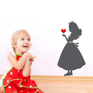 Princess Silhouette Wall Sticker Decal - children's room