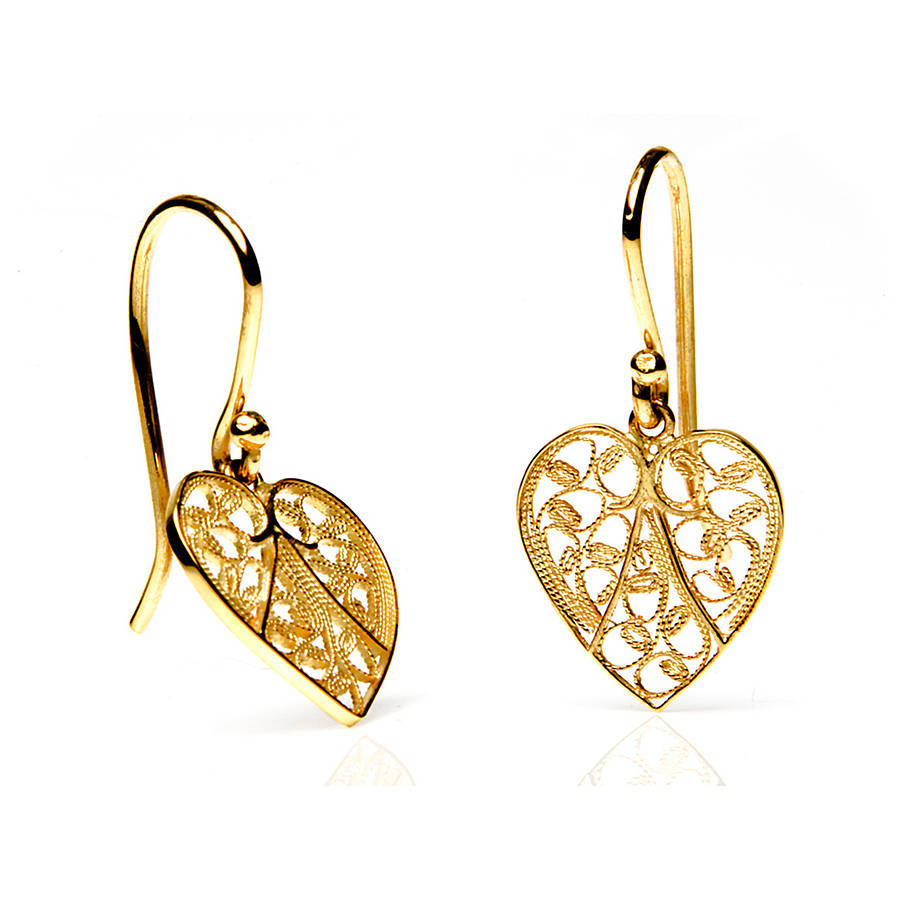 heart earrings gold - photo #3