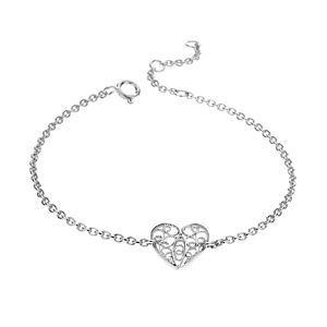 Silver Filigree Heart Friendship Bracelet - women's jewellery