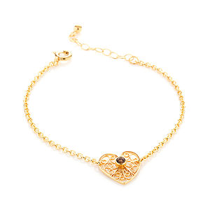 Gold Smoky Quartz Friendship Bracelet - bracelets & bangles