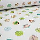 Map Dots Wrapping Paper