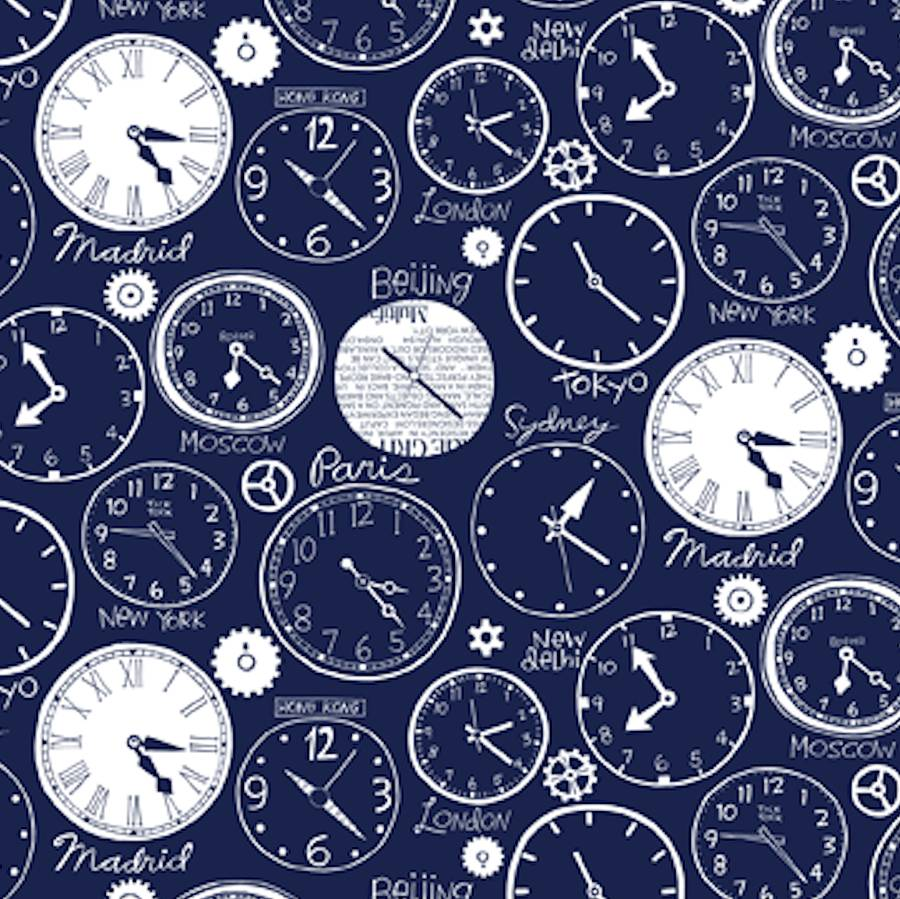 world clocks wallpaper by wall-library | notonthehighstreet.com: www.notonthehighstreet.com/walllibrary/product/world-clocks...
