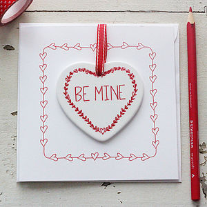 Personalised Valentine Heart Keepsake Card - valentine's cards