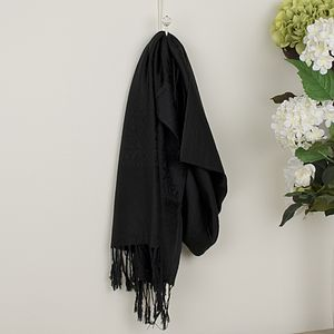 Midnight Black Pashmina Shawl - women's sale
