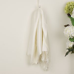 Ivory White Pashmina Shawl - accessories