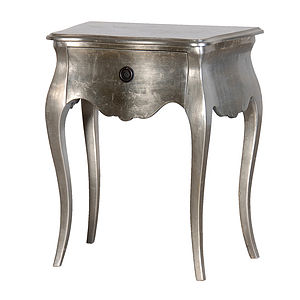 French Silver Bedside
