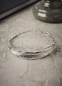 Silver Leaf Bracelet - women's jewellery