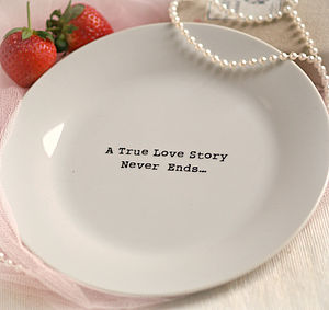 'A True Love Story Never Ends' Plate