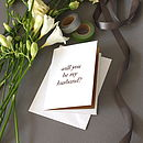 Laser Cut Greeting Card Marry Me Husband