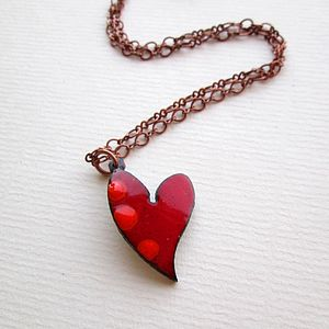 Enamel Heart Pendant Small
