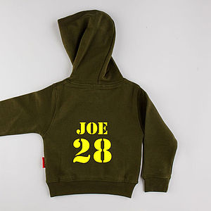Personalised Child's Hoodie Short Length