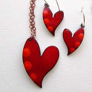Enamel Heart Pendant Large - necklaces & pendants