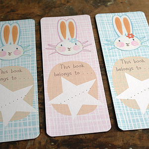 Childrens Bunny Rabbit Bookmarks