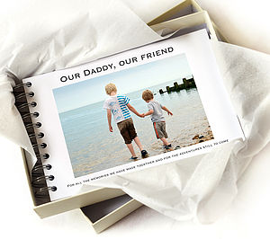 Personalised Dad Album - keepsakes