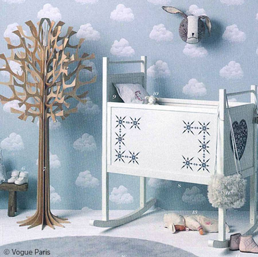 cotton clouds wallpaper by wall-library | notonthehighstreet.com