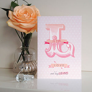 'L Is For Love' Card