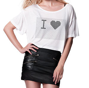 'I Heart…' Stitch Crop T Shirt Kit - t-shirts