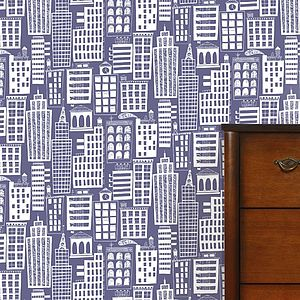 Cityscape Wallpaper - children's room