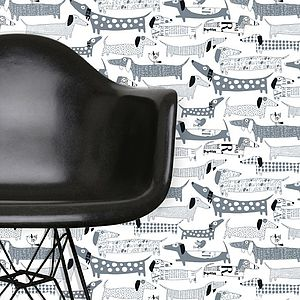 Wiener Dogs Wallpaper - children's room