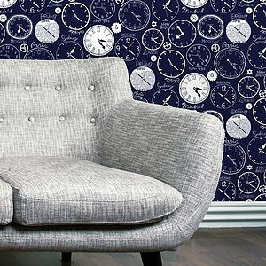 World Clocks Wallpaper - children's room