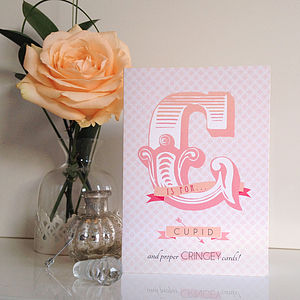 'C Is For Cupid' Valentine's Day Card