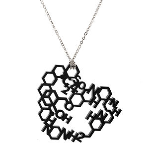 Love Chemistry Laser Cut Necklace