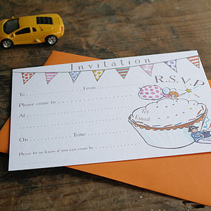 Birthday Party Invitation - cards