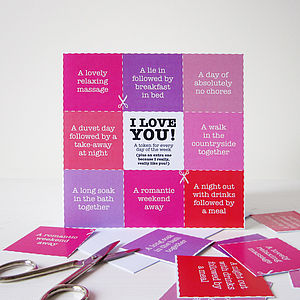 I Love You Tokens Card - view all sale items