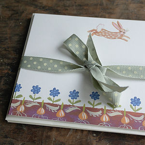 Folk Style Spring Notecards Or Postcards
