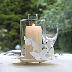 Butterfly Hurricane Lamp - lights & candles